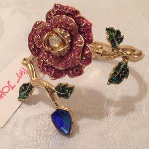 Betsey Johnson Red Roses Bracelet